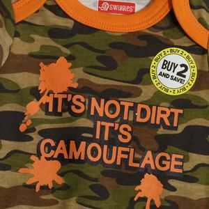 Swiggles One Pieces - Swiggles Camo and Mighty Cute Bodysuits